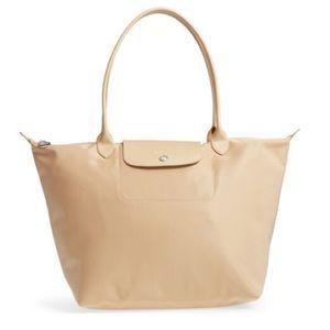 Longchamp Le Pliage Neo Gold Large Tote Bag